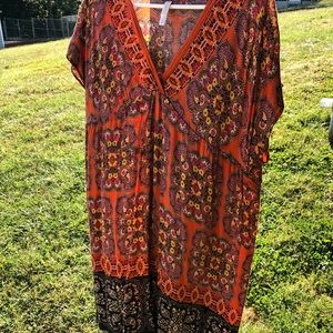 Paisley printed loose dress